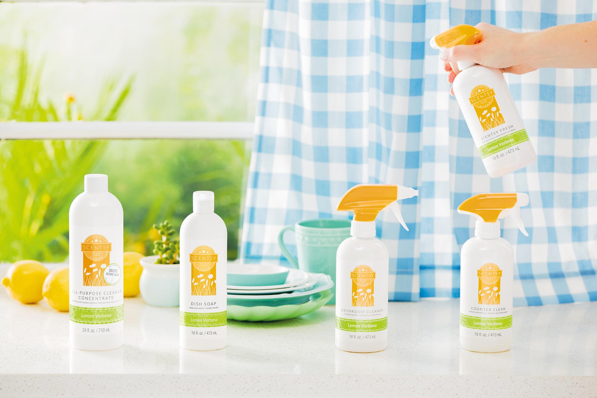 Lemon Verbena Scentsy Clean products