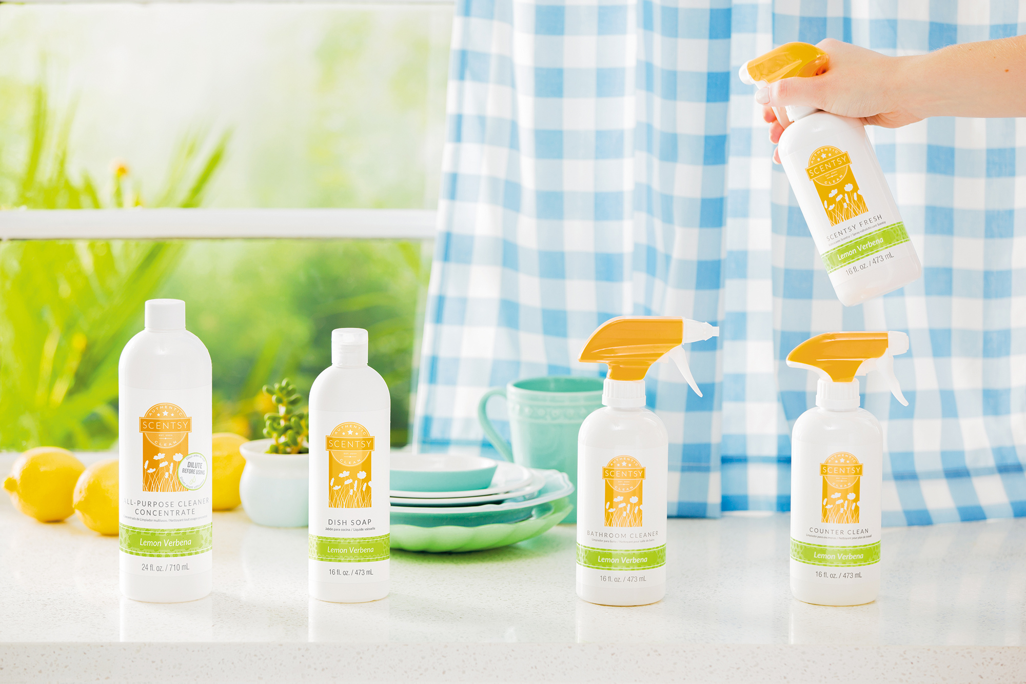 Lemon Verbena Scentsy Clean products