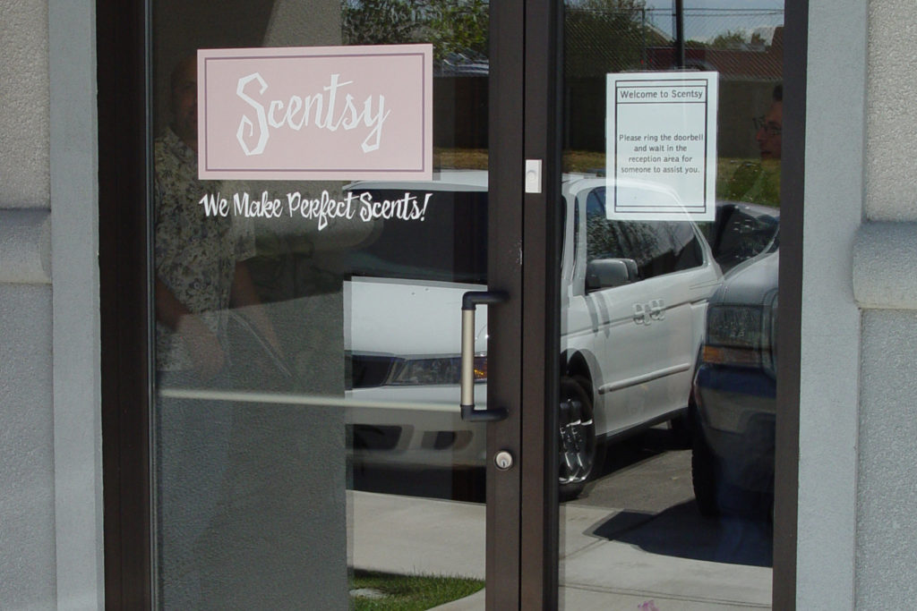 Scentsy first official location on Franklin