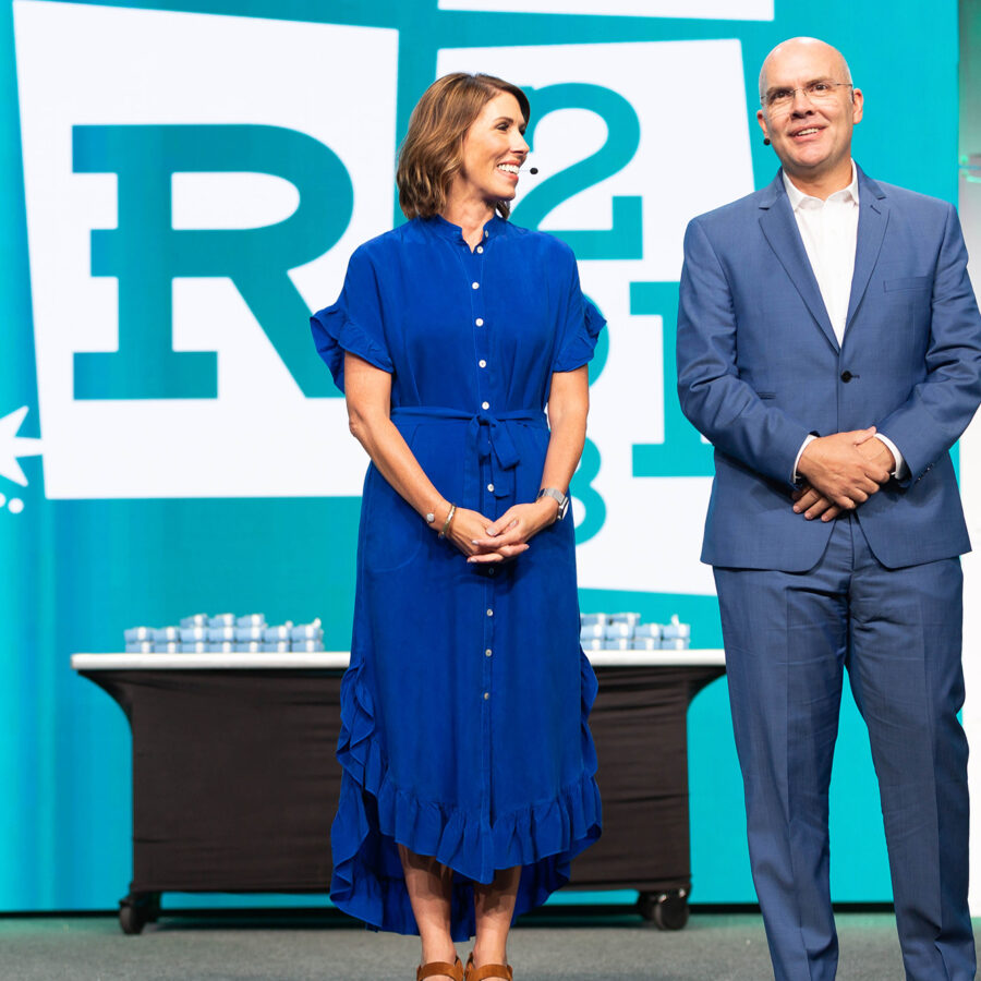 Heidi and Orville on stage during SFR 2018