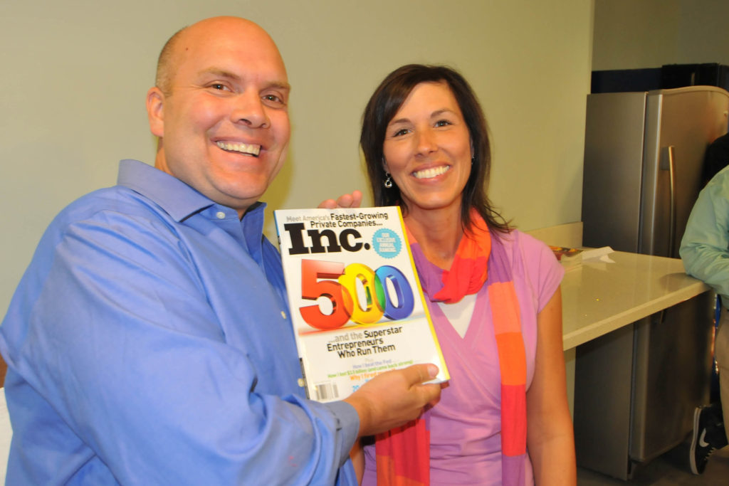 Orville and Heidi holding Inc 500 Magazine Scentsy is featured in