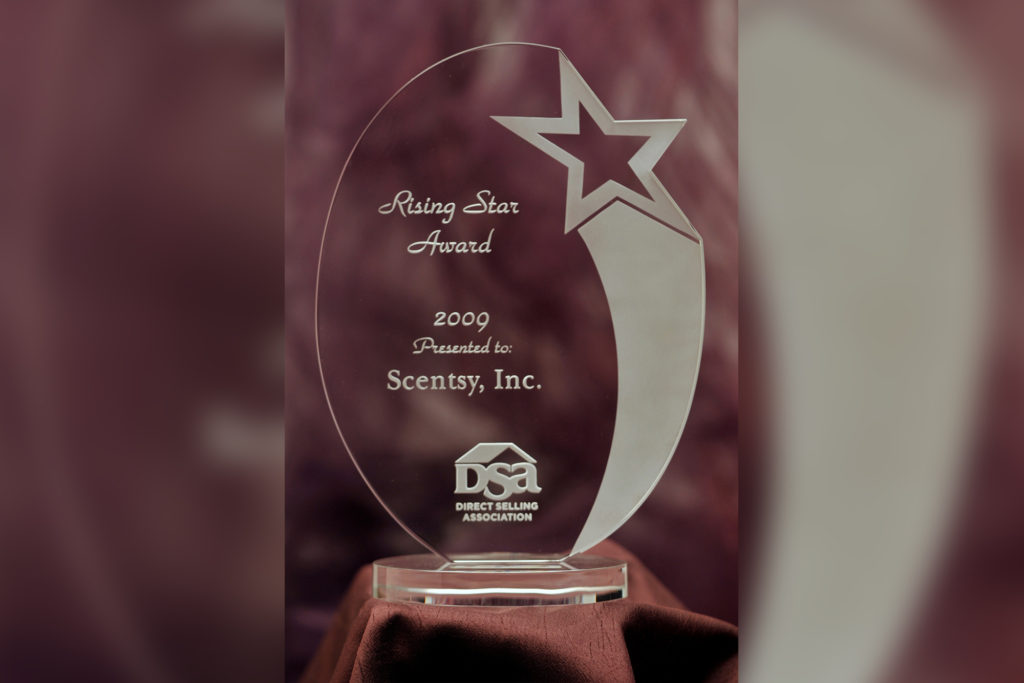 Scentsy DSA Rising Star Award