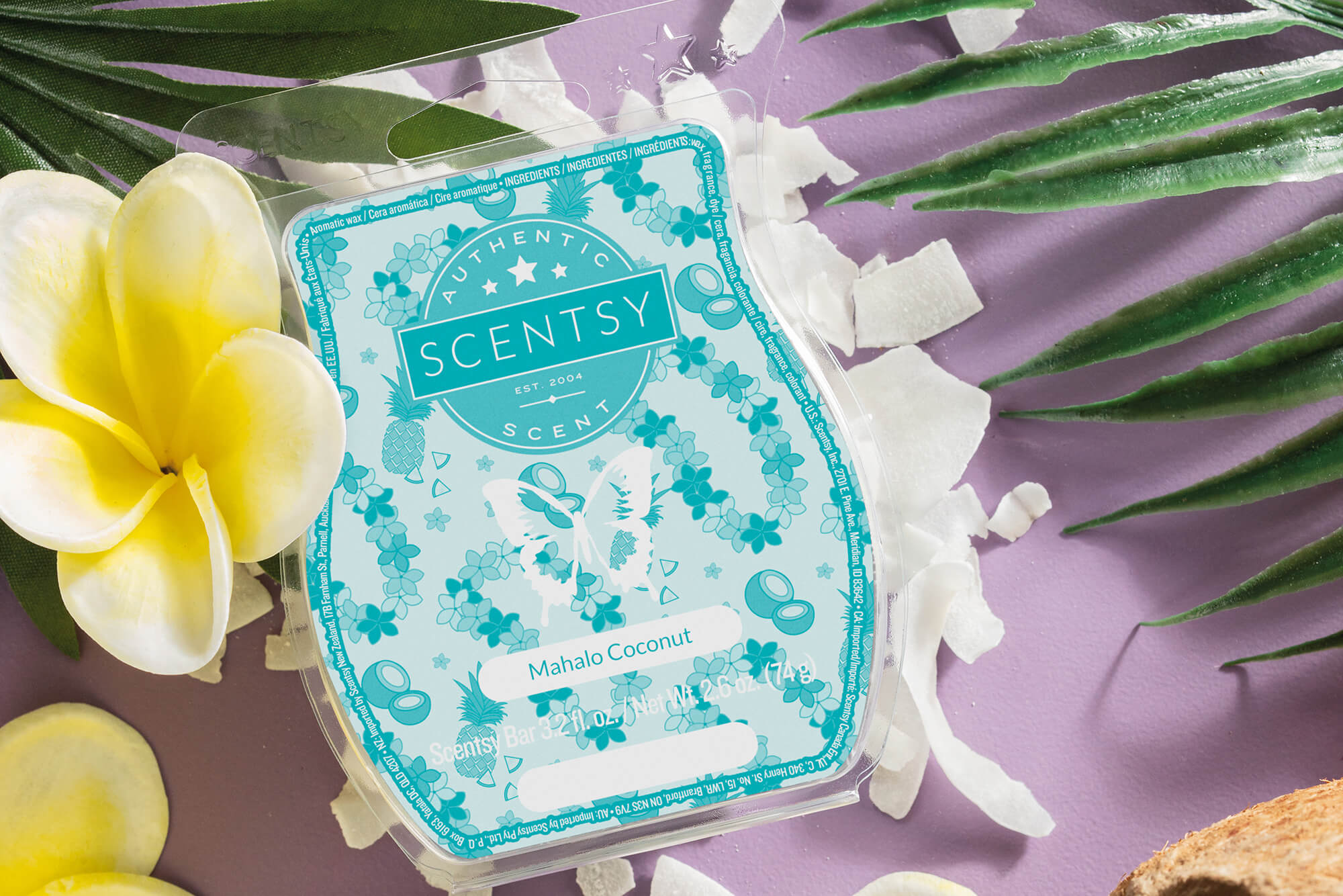 Scentsy Mahalo Coconut scent bar