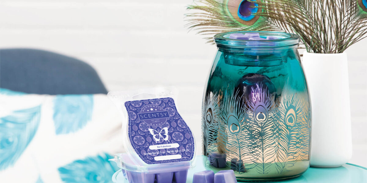 Scentsy's Warmer of the Month, Be bold and their Scent of the Month, Be Fabulous