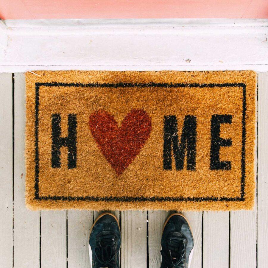 """Doormat that says """"Home"""""""