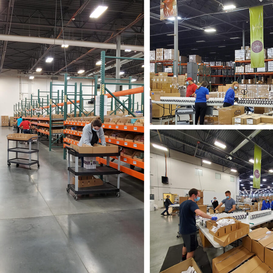 Three images of the Scentsy Operations