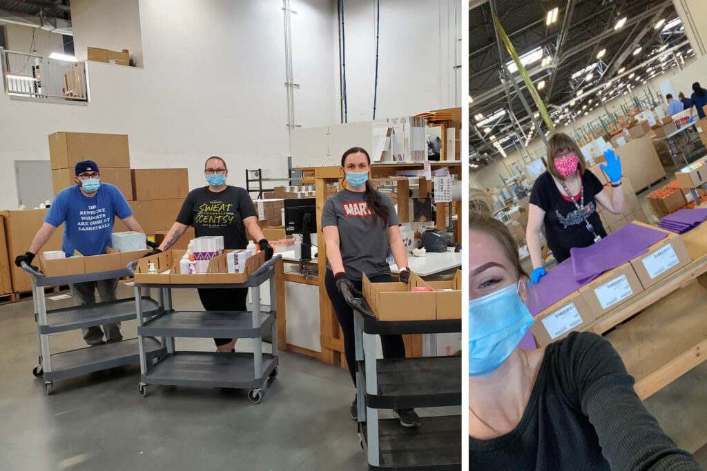 Two images of Scentsy Operations