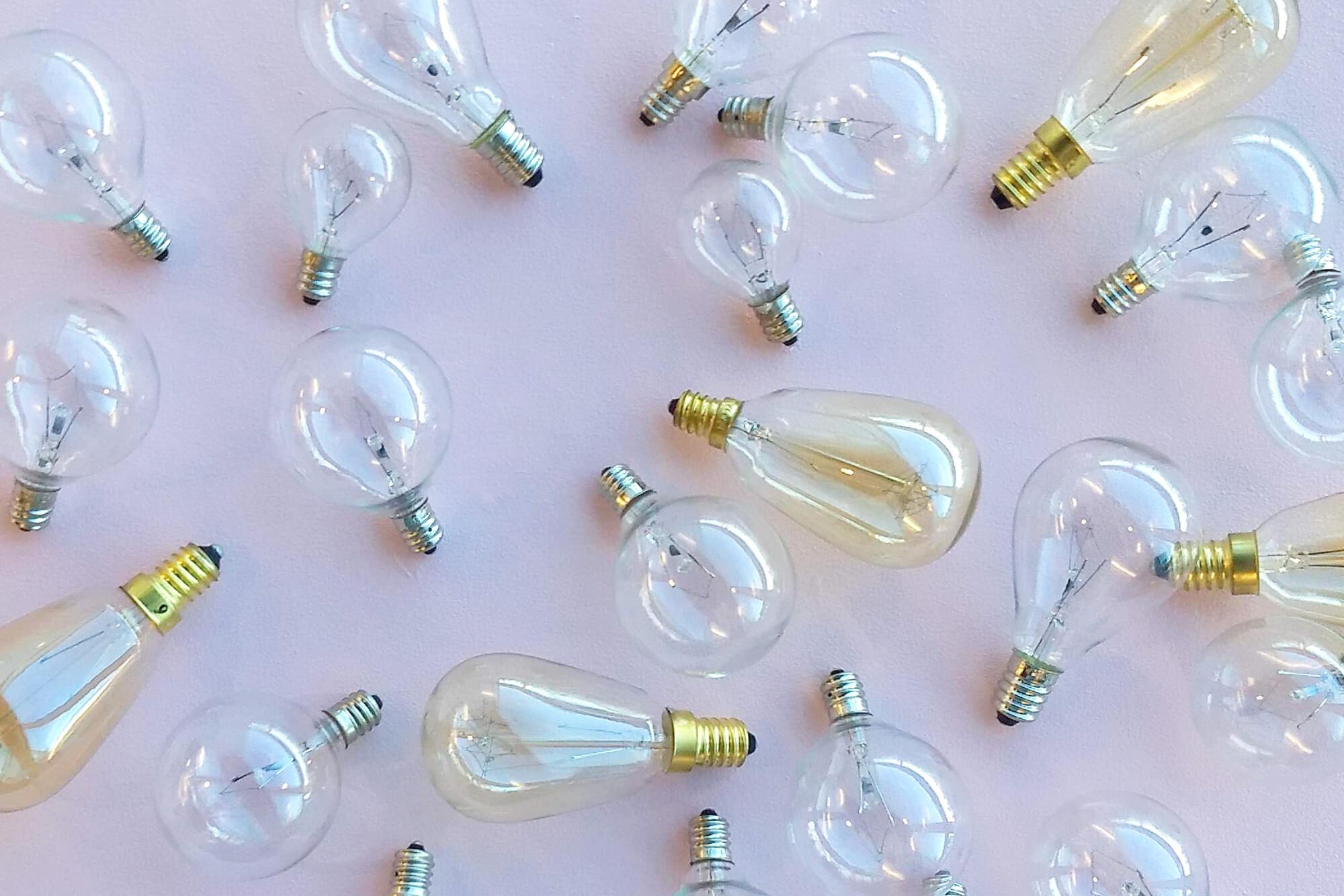 Plain assorted light bulbs