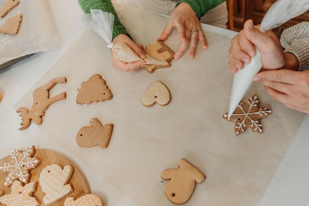 People making cookies