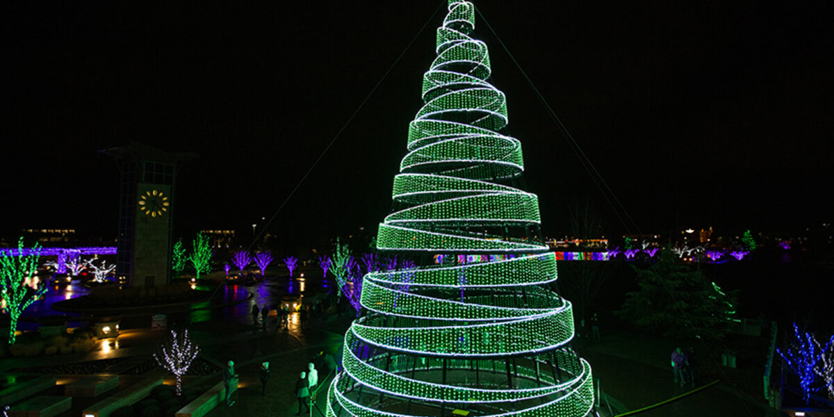 Point of Lights Tree outside the Scentsy Tower