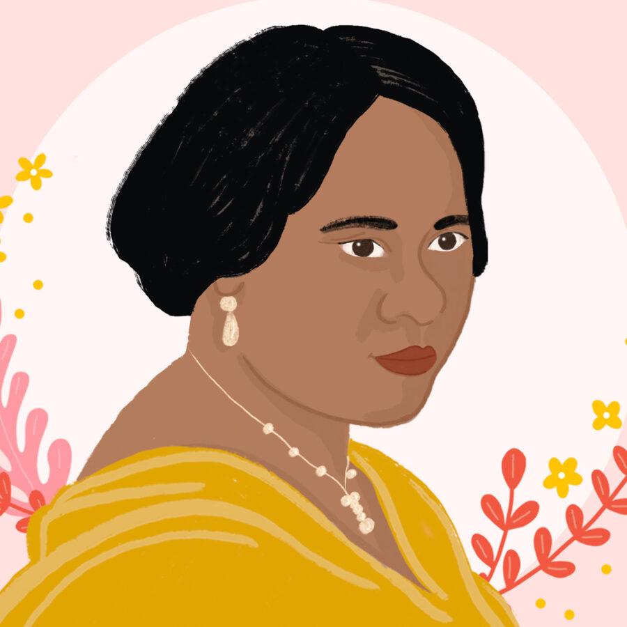 Painting of Madam CJ Walker