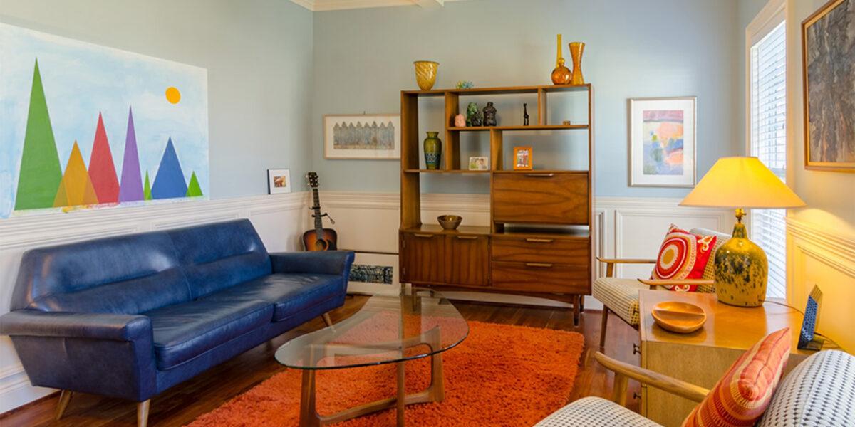 Mid-century modern interior decor