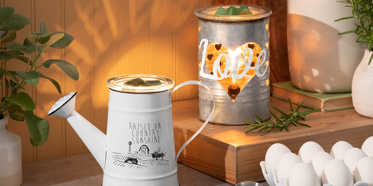 Scentsy Country Sunshine and Sweet Love warmers