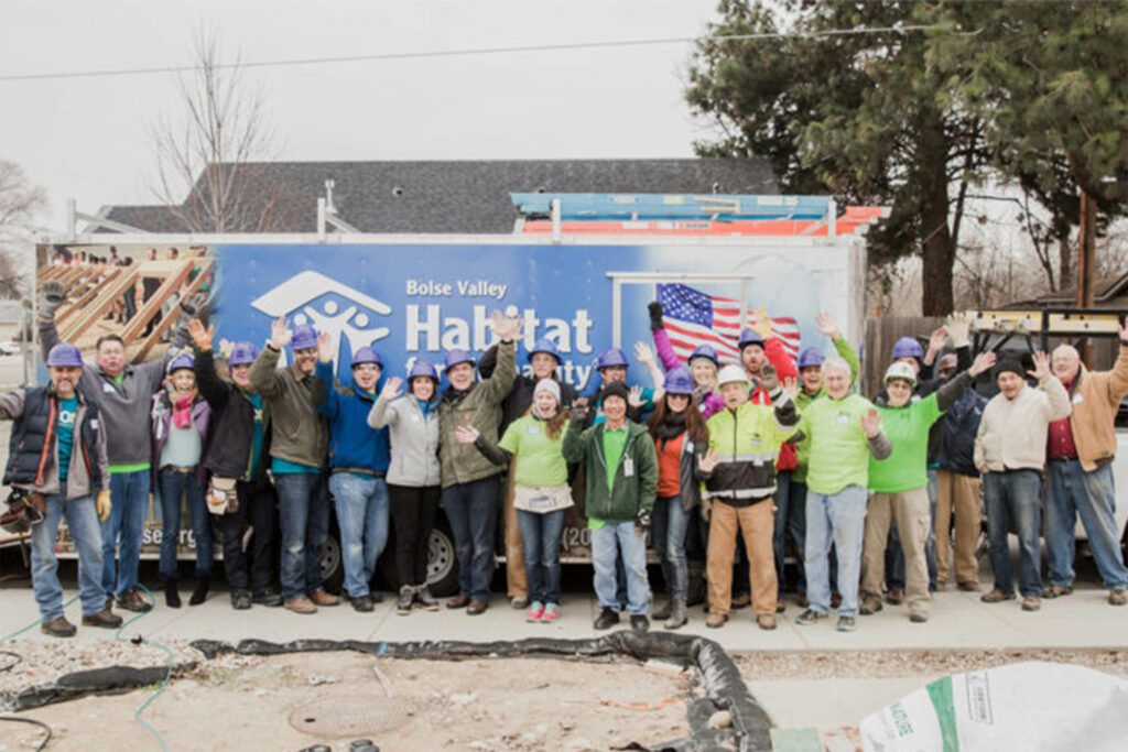 Scentsy employees helping build houses with Habitats for Humanity