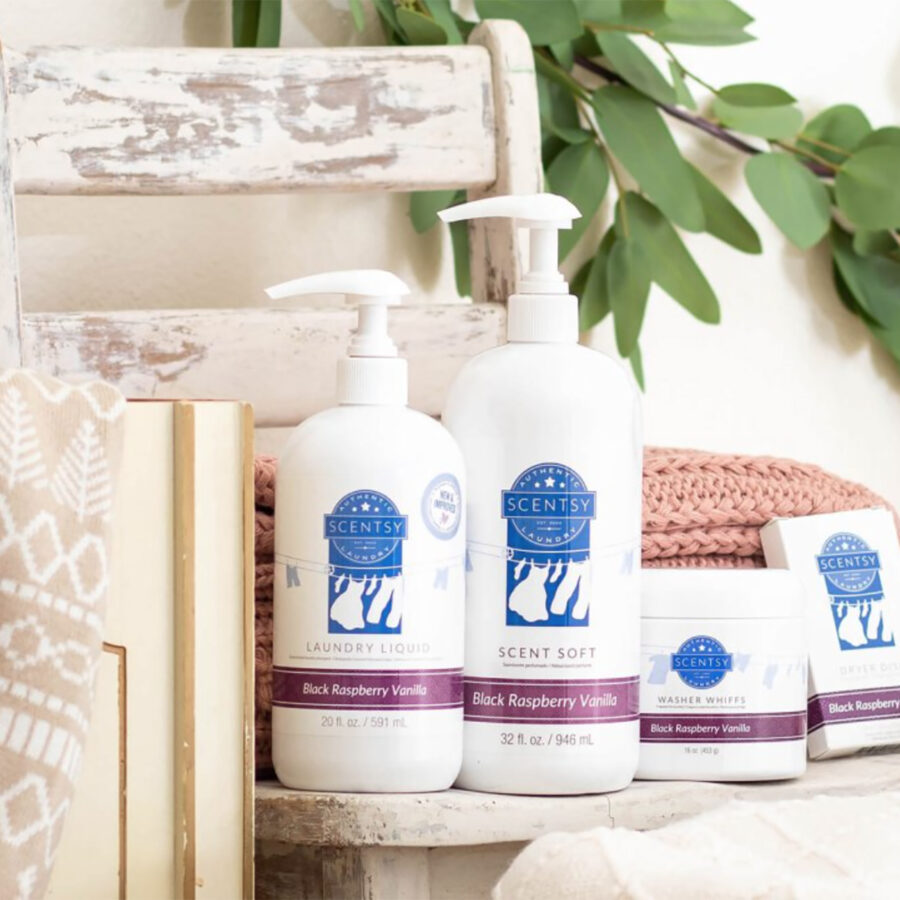 Scentsy Black Raspberry Laundry Products