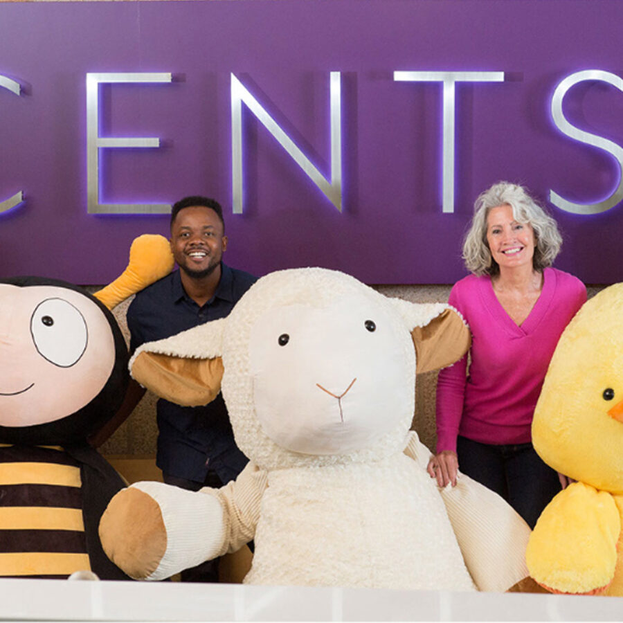 Giant Scentsy Buddies at Scentsy Home Office