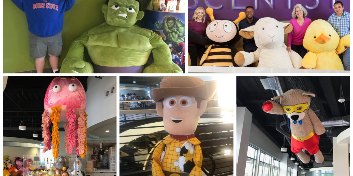 Giant Scentsy Buddies at Scentsy's Home Office In Meridian