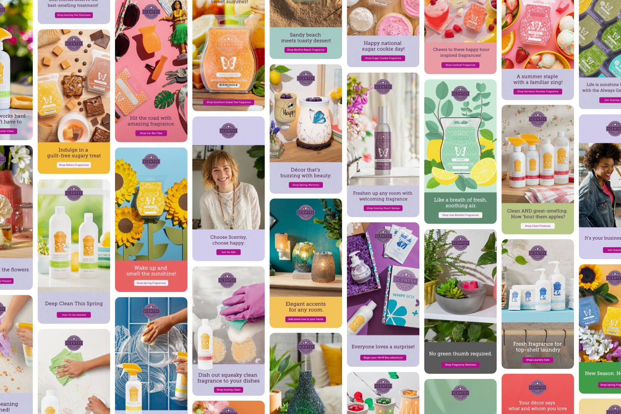 Scentsy Pintrest photo collage