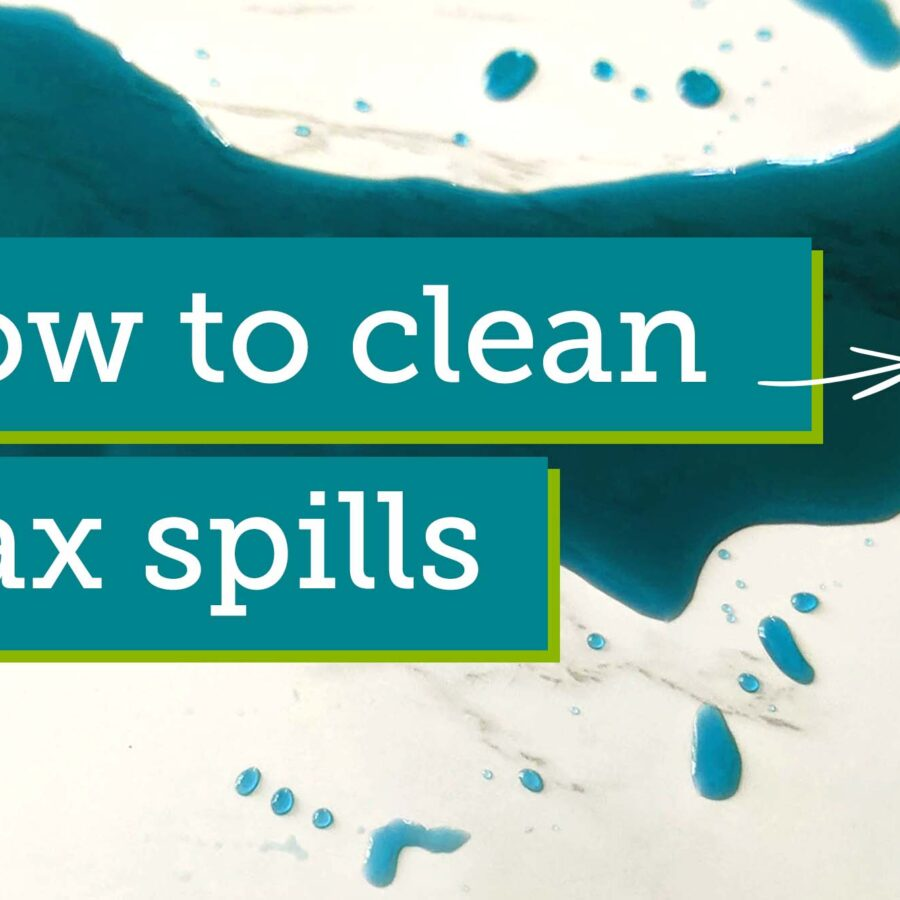 How to clean wax spills graphic