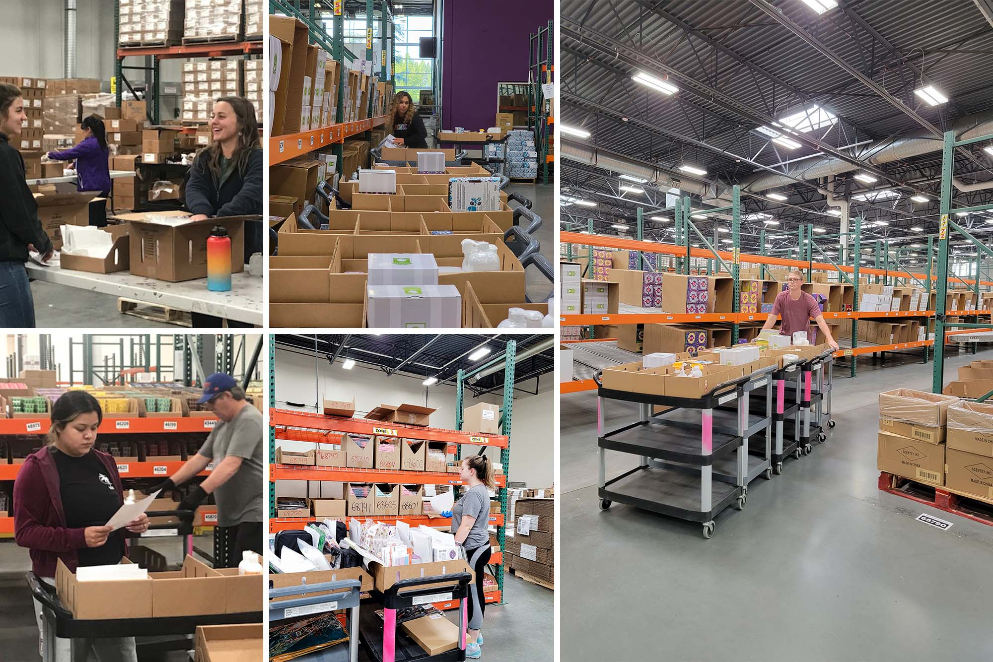 Scentsy Meet the shipping team photo collage