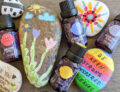 Scentsy Natural Oils along with painted rocks