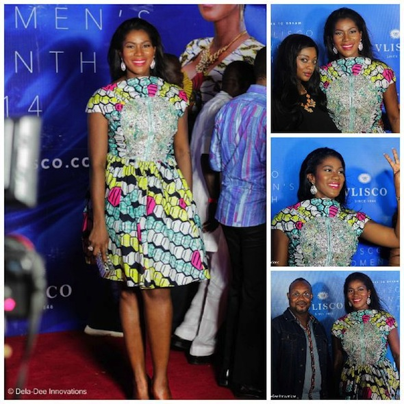 Photos Stephanie Linus Okereke Rocks Mon Ami Designs At The Vlisco Women S Month Award Night Nigeria Ladybrille Magazine