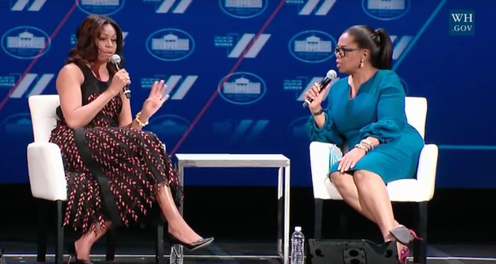 Michelle Obama Oprah United State of Women Summit