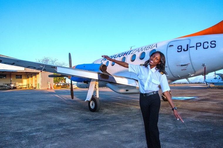 Besa Mumba Zambia's Youngest Commerical Pilot