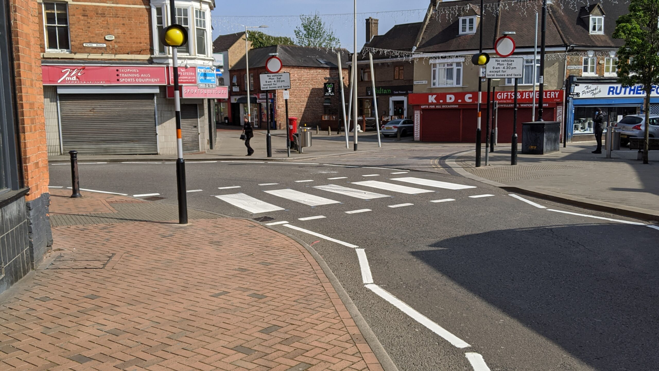 Repainted zebra crossing - April 20202