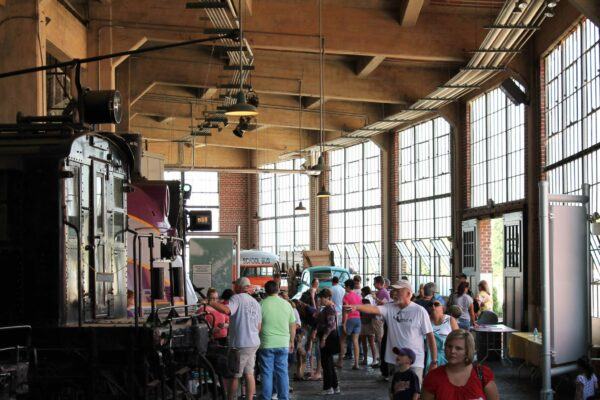 The roundhouse doubles as a public space and living interpretive facility.
