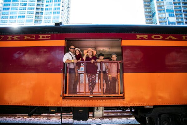 family-on-train-fort-wayne