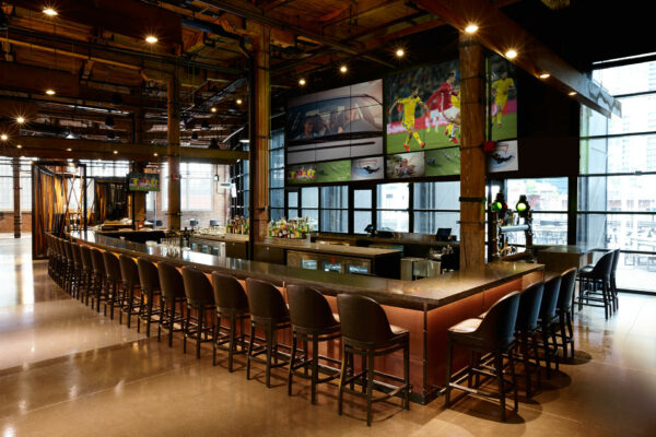 """""""In addition to spirits and cocktails, multiple bars throughout The Rec Room serve six draught wines and over 24 draught beers."""" (CNW Group/Cineplex)"""