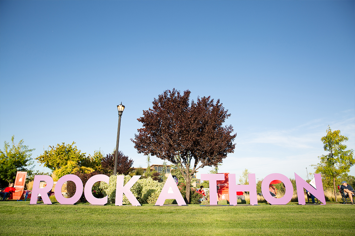 Large Rock-a-Thon sign