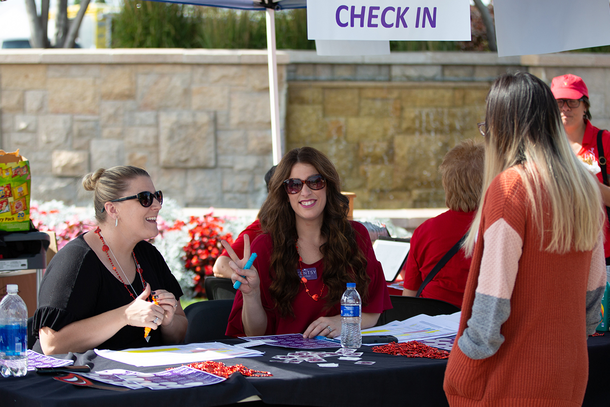 Rock-a-Thon check-in booth