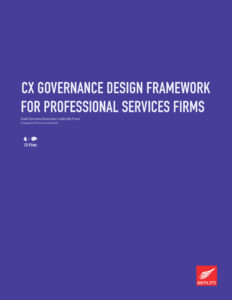 CX Governance Design Framework for Professional Services