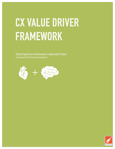 CX Value Driver Framework Cover page