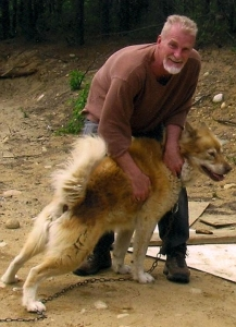RJ Millar and his dog