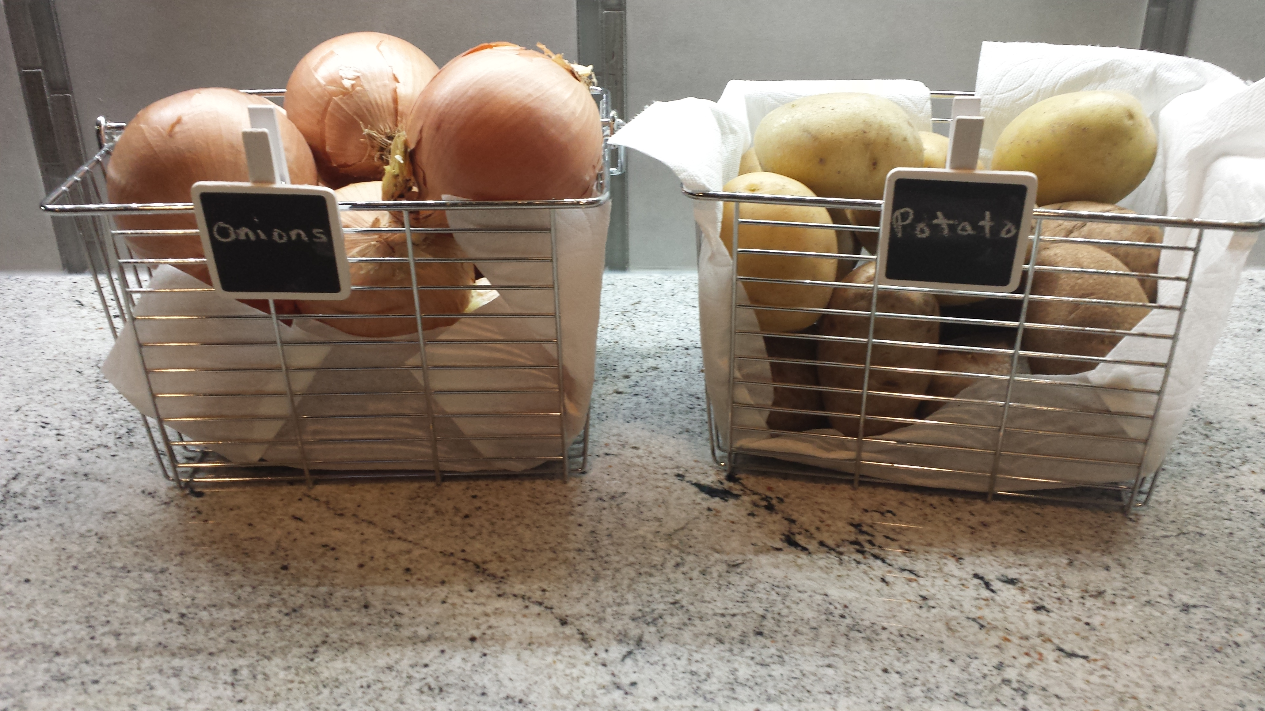 Storing Onions and Potatoes