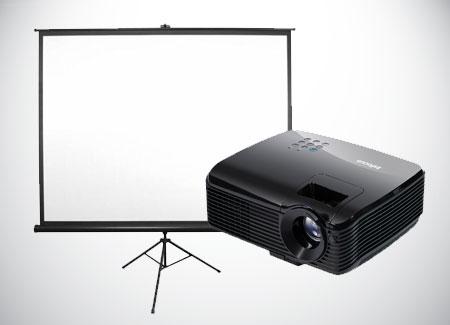 Projector-Rental-With-Screen-Infocus