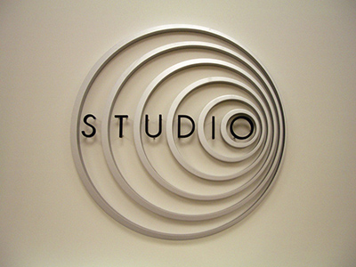 Apple Store Studio Logo and Signage