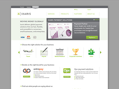 Ixaris Web Site