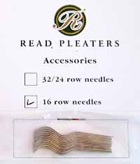 Needles for 16 row Read Pleaters