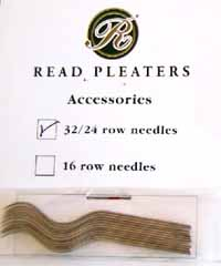 Needles for 24 and 32 row Read Pleaters
