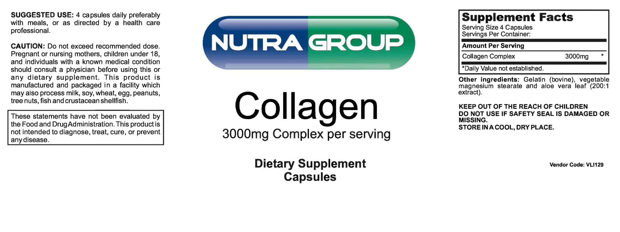 It is a photo of Unusual Private Label Collagen Powder