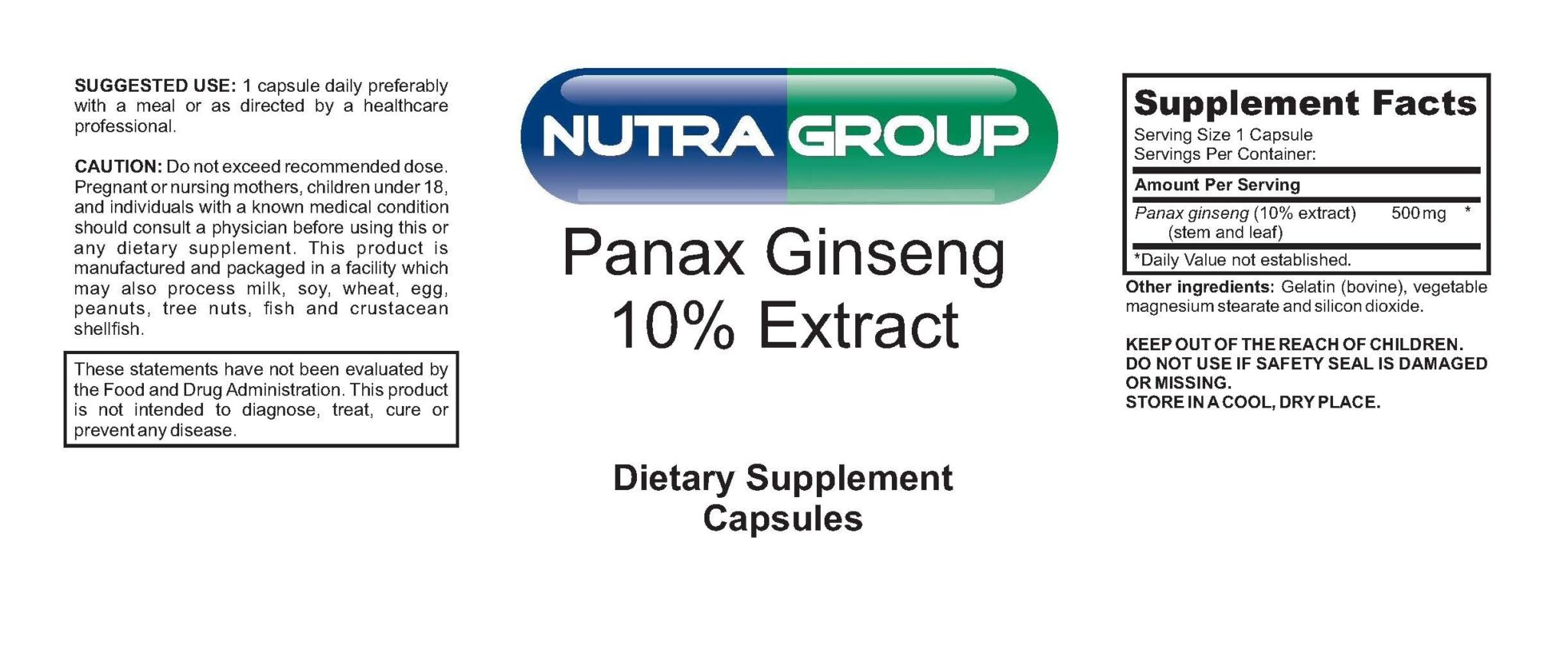 Private Label Panax Ginseng Extract