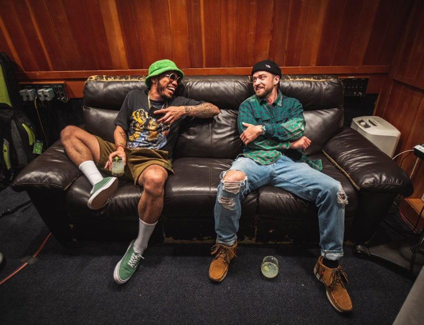 Anderson .Paak And Justin Timberlake Were Spotted In The Studio Together
