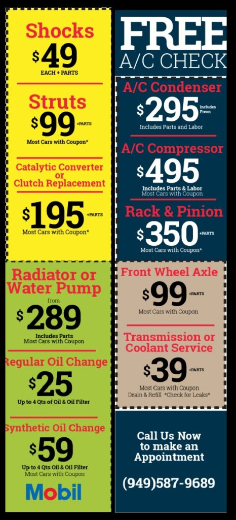 auto repair coupons First Call Auto Services
