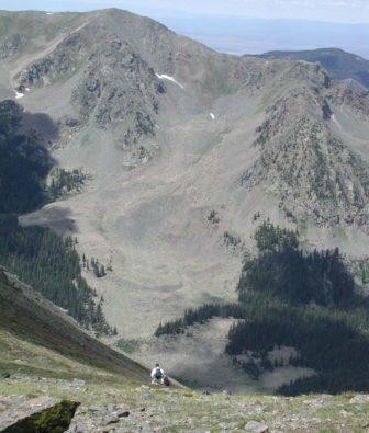Near the summit of Wheeler Peak (Photo by Ellen Miller-Goins)
