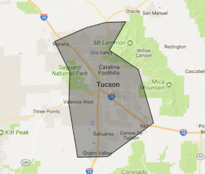 Tucson junk removal service area map