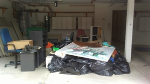 Before picture of garage clean out